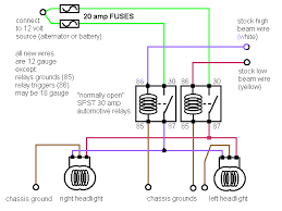 dodge head lights relay mod schematic s mopar forums dodge head lights relay mod schematic s headlight relays gif