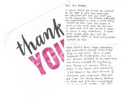 Thank You Note By Leila, Michael And Shelly V. - Tom Thumb Blog