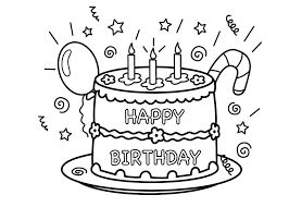 Small Picture Coloring Download Coloring Page Of A Birthday Cake Coloring