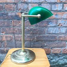 Vintage Desk Lamp With Green Glass Shade The Pale Blue Dot