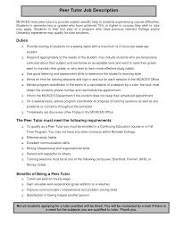 Tutor Responsibilities Roles And Responsibilities Personal Tutor