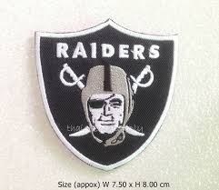 2 of 3 patch oakland raiders embroidered sew iron on patch nfl football logo diy
