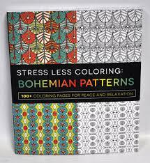Bohemian Patterns Gorgeous Amazon Stress Less Coloring Bohemian Patterns Coloring Book