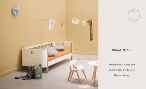 wood mini junior bed