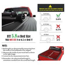 Premium Lock Roll Up Soft Tonneau Cover for 2014-2017 Chevy ...