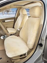 custom tailored sheepskin seat covers ivory