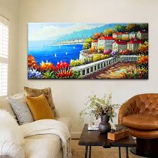 painting for dining room. Plain Room Building Decoration Paiting Modern Dining Room Bedroom Wall Art Painted  Frameless Canvas Beach City Oil Painting To Painting For Dining Room E