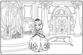 Principessa Sofia In Casa Disegno Da Colorare Gratis Disegni Da