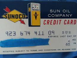 vine 1962 sun oil pany gasoline credit card sunoco 1 of 4 vine 1962 sun oil pany gasoline credit card sunoco