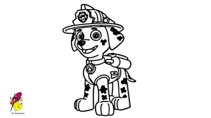 Paw Patrol Marshall Coloring Page Paw Patrol Coloring Pages Everest