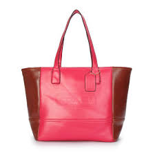 Coach City Saffiano Small Red Totes ANN
