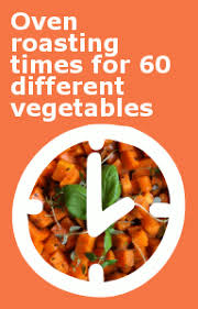 Vegetable Cooking Time Chart Oven Roasting Times For Different Vegetables In Minutes