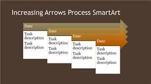 Brown Microsoft Office Download Increasing Arrows Process Diagram Smartart Slide Brown