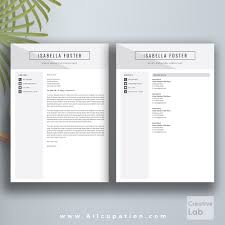 creative resume template cv template cover letter page professional resume template cv template 1 2 and 3 page resume