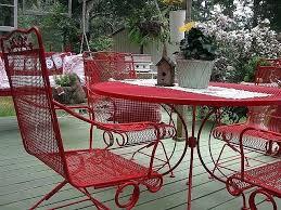 painted metal patio furniture. Beautiful Furniture Painting Metal Outdoor Furniture Patio Intended For  Table Repaint  For Painted Metal Patio Furniture N