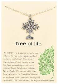 Tree Of Life Quote Delectable Amazon Tree Of Life Round Pendant Necklace Silver Tone With
