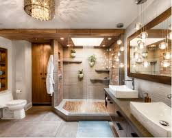 Inspiration for a large tropical master gray tile and ceramic tile gray  floor and ceramic floor