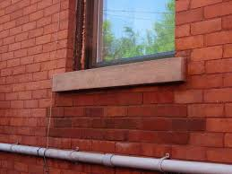 exterior window sill installation. after sill replacement for installing of window exterior installation o