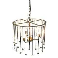 helios chandelier gold
