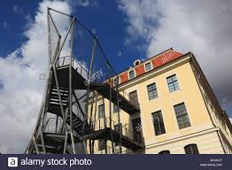 deconstructive architecture. The Controversial Fire Escape Of Historical Landhaus, Now Dresden City Museum, Mit Der Deconstructive Architecture