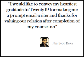 i am pretty confident of my email writing skills now jibanjyoti  it was really good hearing from jibanjyoti share his experience check out s professional email writing course now and improve your email writing