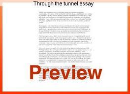 through the tunnel essay homework help through the tunnel essay reading response through the tunnel by doris lessing