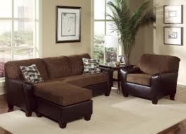 Two Tone Living Room Furniture Two Tone Brown Contemporary Living Room W Cushioned Seats