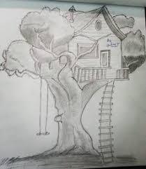 tree house pencil drawing drawingoftheday pencil pencildrawing drawing art