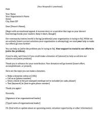 Non Profit Donation Letter Template Fundraising Made Effortless With 13 Donation Request Letters
