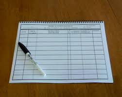 Large Print Page Size Check Register