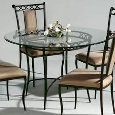 wrought iron round dining table