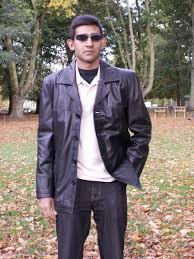 men s 4 on quality leather jacket