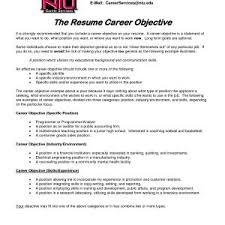 Sample Career Objective In Resume For Internship Fresh Internship ...