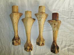 claw foot table leg set of 4 vintage unfinished wood couch chair furniture table legs claw