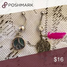 Dream Catcher Belly Button Ring Hot Topic Boho Belly Button Ring Bundle Belly bars Belly button and Hot topic 39