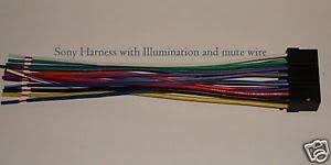 sony wire harness illumination mute xplod cdx mp70 sni image is loading sony wire harness illumination mute xplod cdx mp70