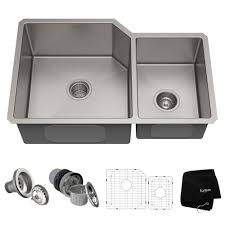 16 gauge undermount 60 40 double bowl stainless steel kitchen
