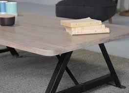 Table basse noir et bois table basse convertible | Trendsetter