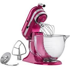 Pink Kitchen Aid Mixer Kitchenaid Ksm155gbri Raspberry Ice Premium Metallic Series 5 Qt