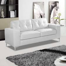 pinto italian inspired white leather sofa collection with chrome sti feet