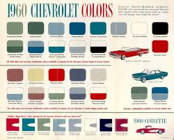 1960 Chevrolet Colors Brochure Chevrolet Chevelle
