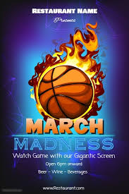 March Madness Flyer March Madness Watch Party Template Postermywall