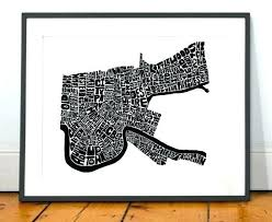 new orleans map wall art new wall decor new map art new art print new typography new orleans map wall art  on map of new orleans wall art with new orleans map wall art new street map new orleans map wall art