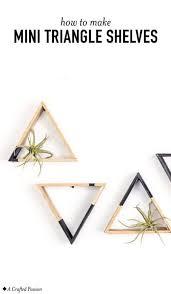 diy mini triangle shelves