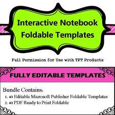Editable Foldable Templates Editable Foldable Template Teaching Resources Teachers Pay Teachers