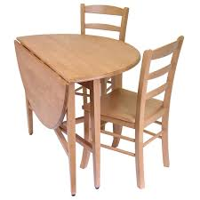 hannah 3pc dining set drop leaf table with 2 ladder back chairs 396 43 ojcommerce