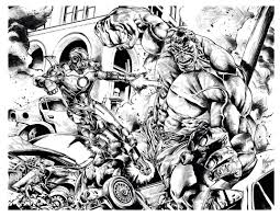 Play hulk coloring for free! Iron Man Vs Hulk Books Adult Coloring Pages
