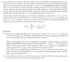 Types Of Probability Solved 3 In Probability And Statistics There Are Variou