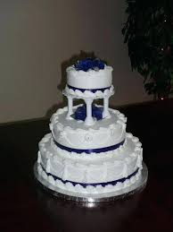 Navy Blue Wedding Cake Diamond With Cupcakes Legionfront