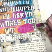 how to create an altered book art journal page with stencils